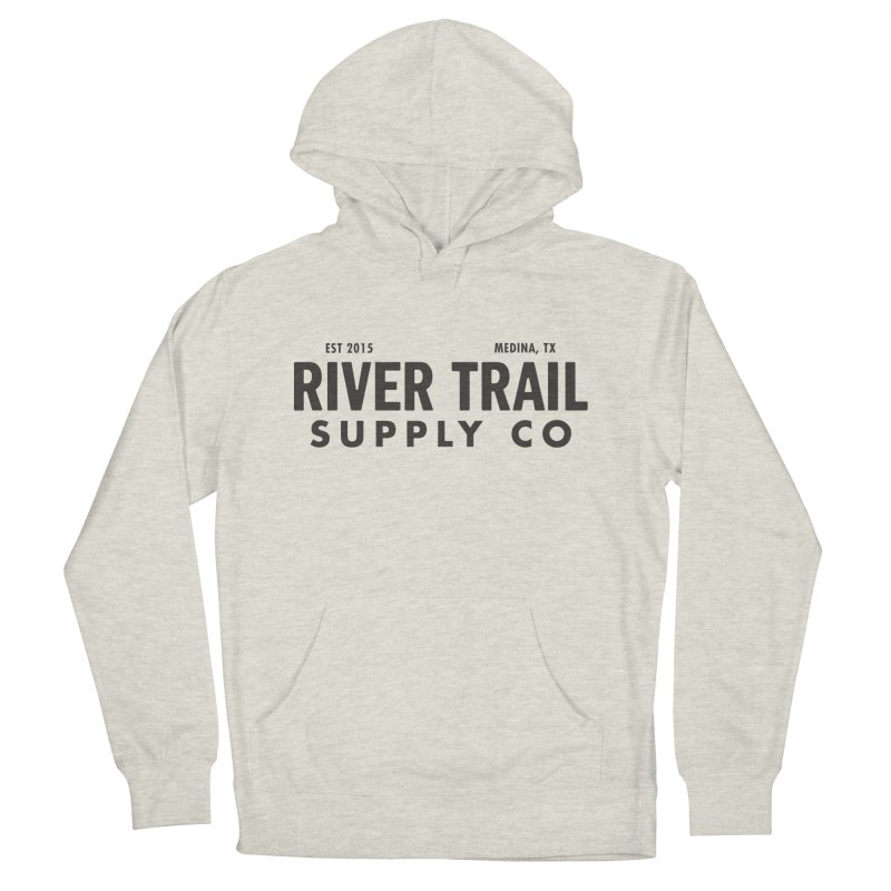 River Trail Supply Co Logo Men's French Terry Pullover Hoody by River Trail Supply Company