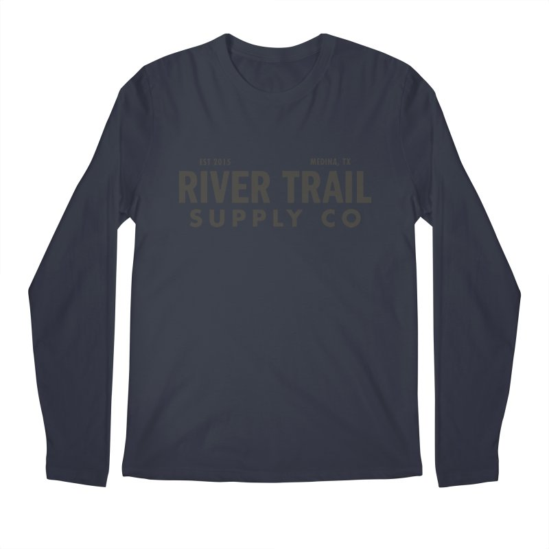 River Trail Supply Co Logo Men's Regular Longsleeve T-Shirt by River Trail Supply Company