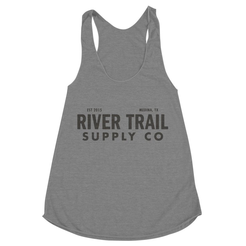 River Trail Supply Co Logo Women's Racerback Triblend Tank by River Trail Supply Company