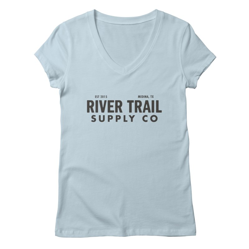 River Trail Supply Co Logo Women's V-Neck by River Trail Supply Company