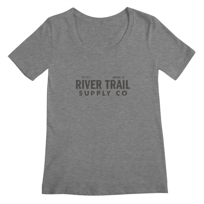 River Trail Supply Co Logo Women's Scoopneck by River Trail Supply Company