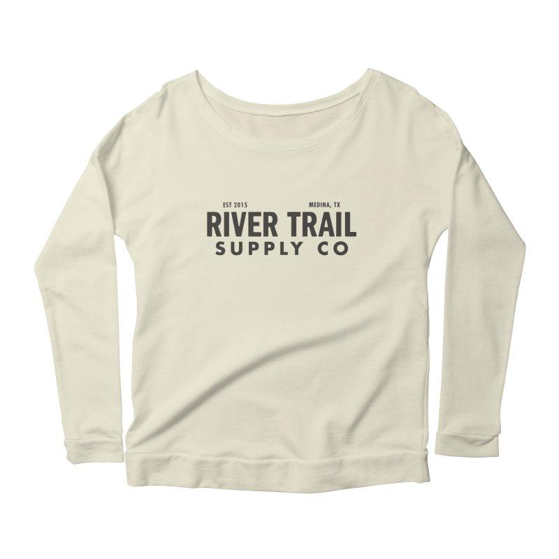 River Trail Supply Co Logo Women's Longsleeve Scoopneck  by River Trail Supply Company