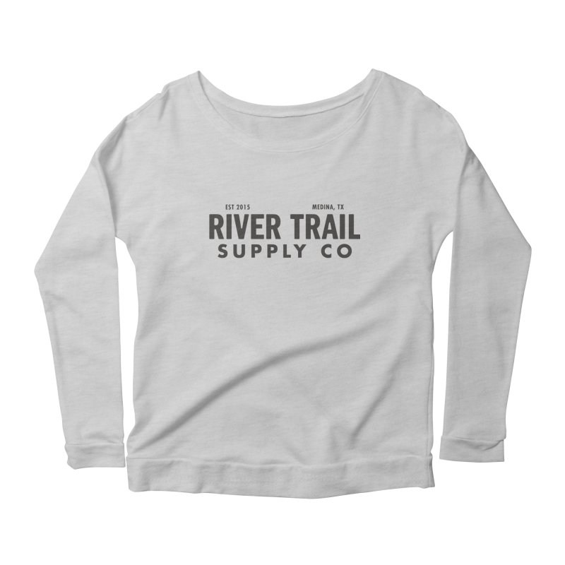 River Trail Supply Co Logo Women's Scoop Neck Longsleeve T-Shirt by River Trail Supply Company