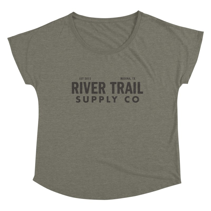 River Trail Supply Co Logo Women's Dolman Scoop Neck by River Trail Supply Company