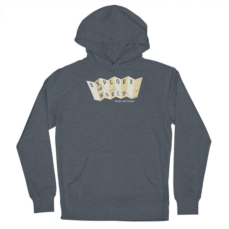 Explore the World - Maps Optional Men's Pullover Hoody by River Trail Supply Company