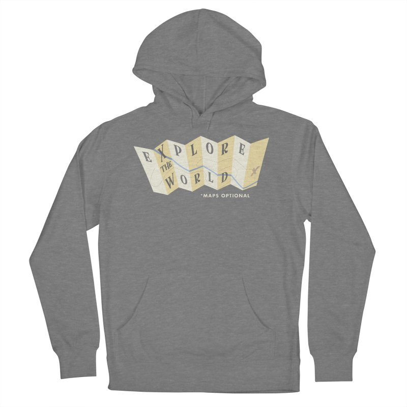 Explore the World - Maps Optional Women's Pullover Hoody by River Trail Supply Company