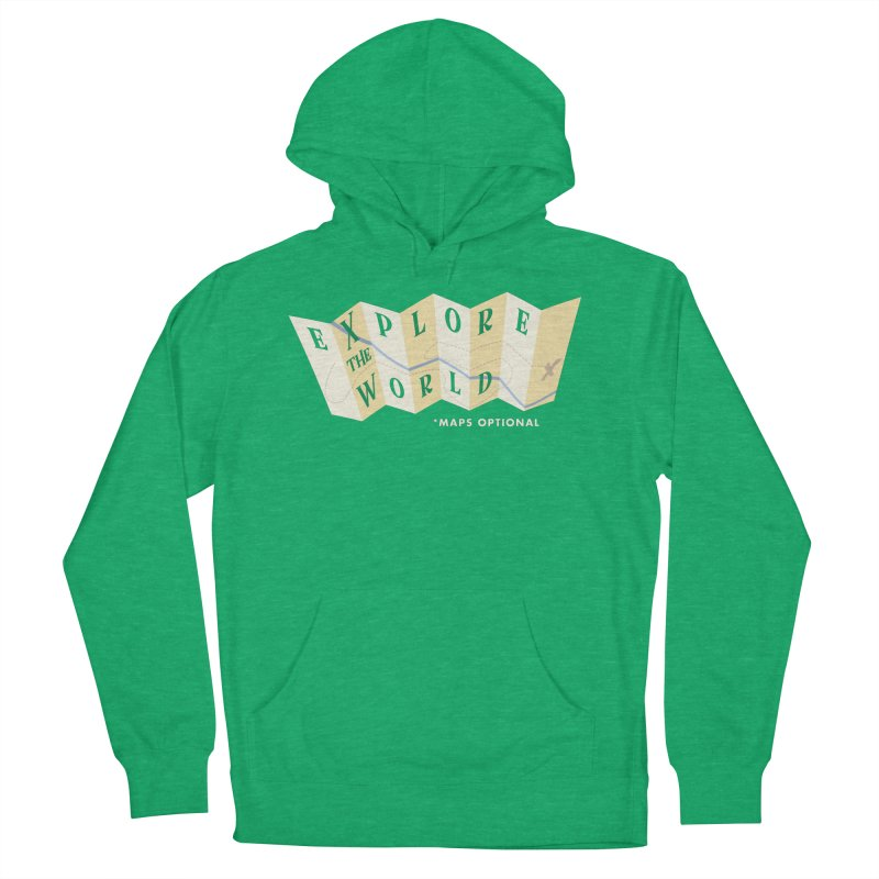 Explore the World - Maps Optional Men's French Terry Pullover Hoody by River Trail Supply Company