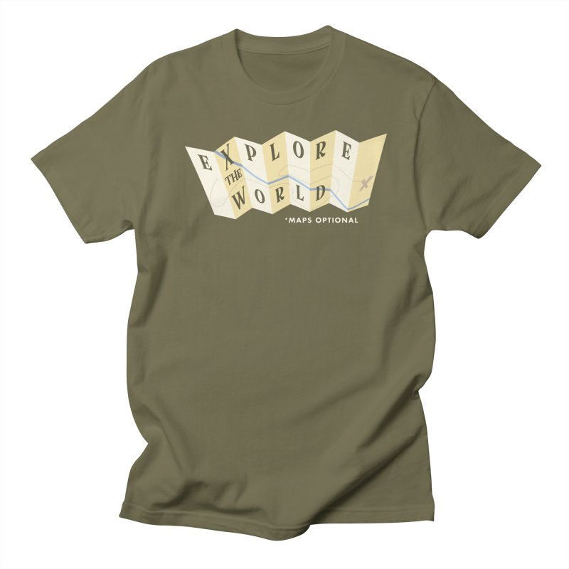 Explore the World - Maps Optional Men's T-shirt by River Trail Supply Company