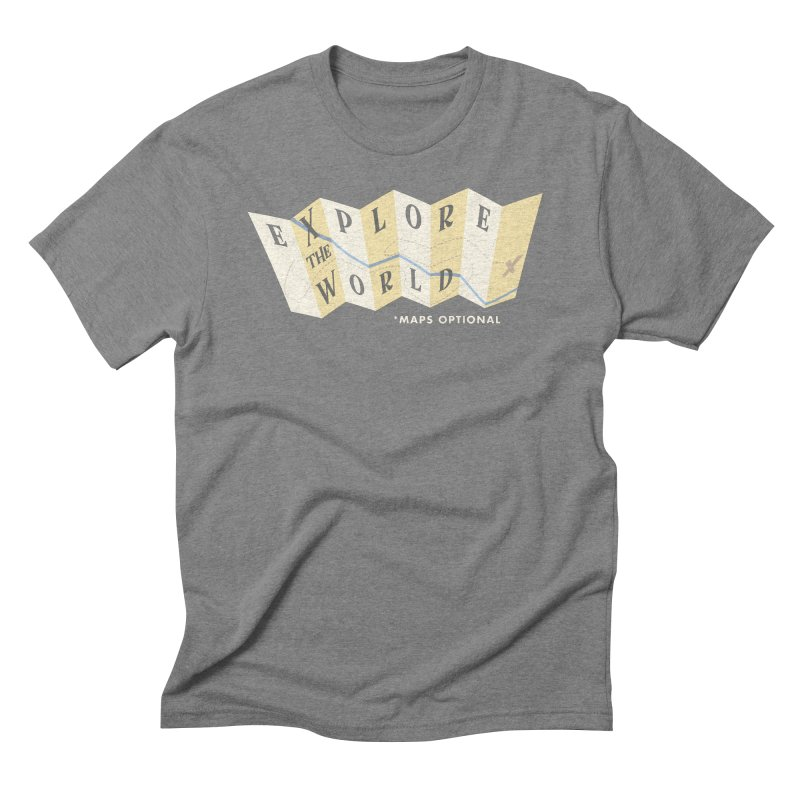 Explore the World - Maps Optional Men's Triblend T-Shirt by River Trail Supply Company