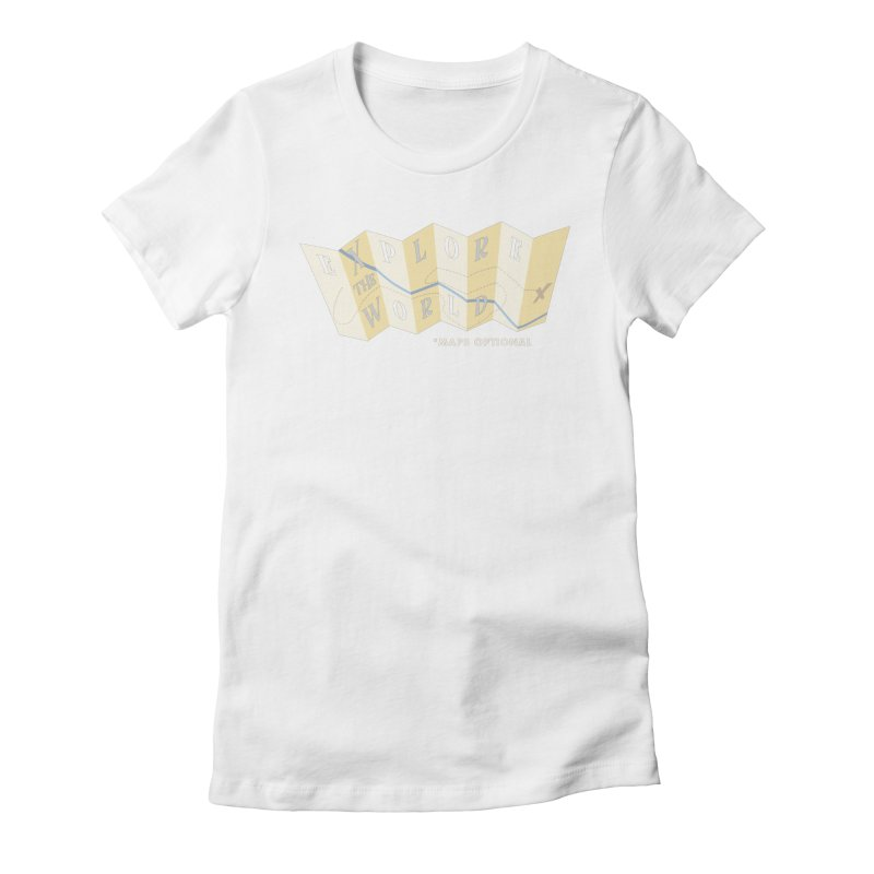 Explore the World - Maps Optional Women's Fitted T-Shirt by River Trail Supply Company