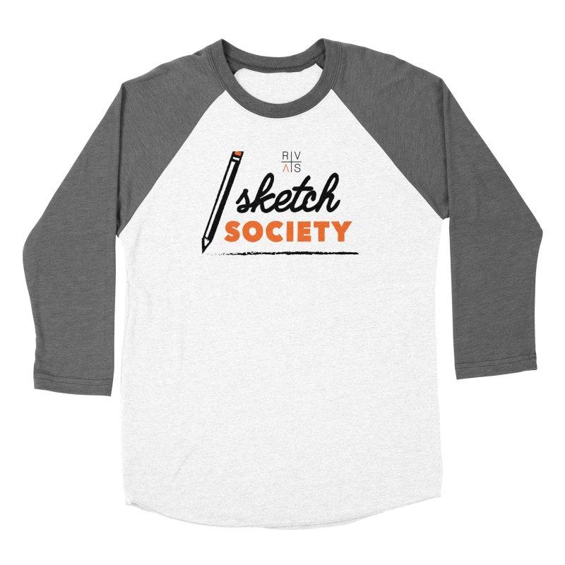 RVAS Sketch Society Women's Baseball Triblend Longsleeve T-Shirt by Riverviews Artspace Shop