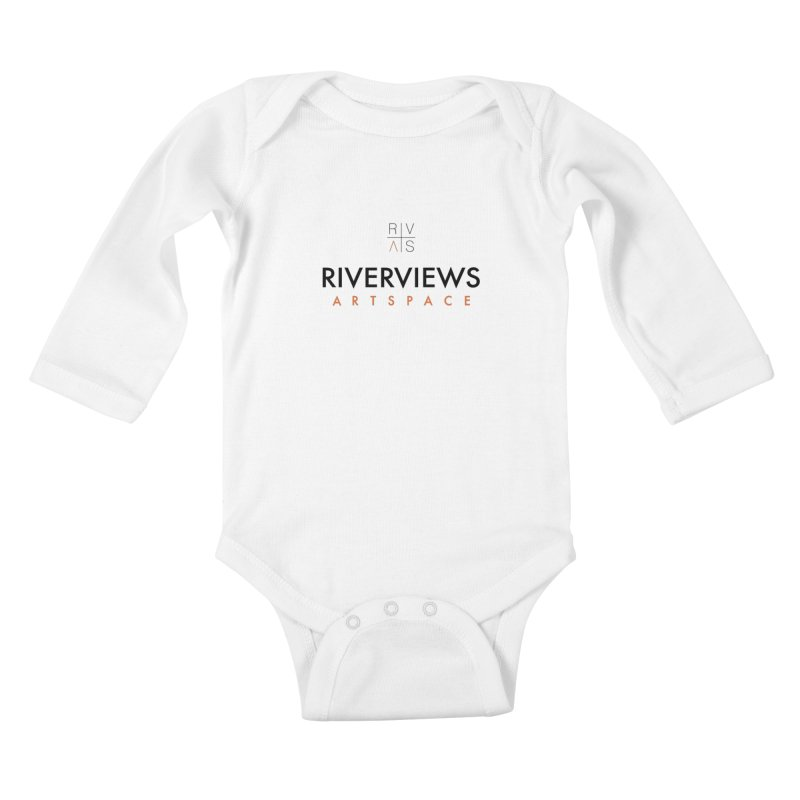RVAS Logo Kids Baby Longsleeve Bodysuit by Riverviews Artspace Shop