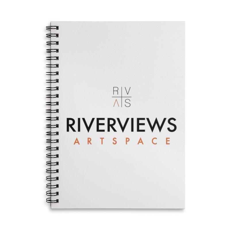 RVAS Logo Accessories Lined Spiral Notebook by Riverviews Artspace Shop