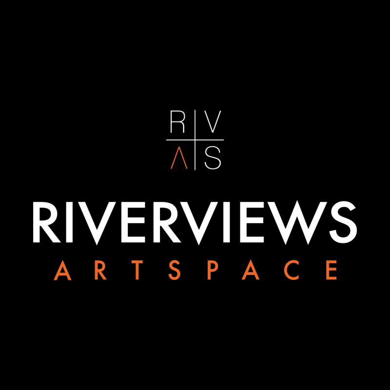 RVAS Logo - White by Riverviews Artspace Shop