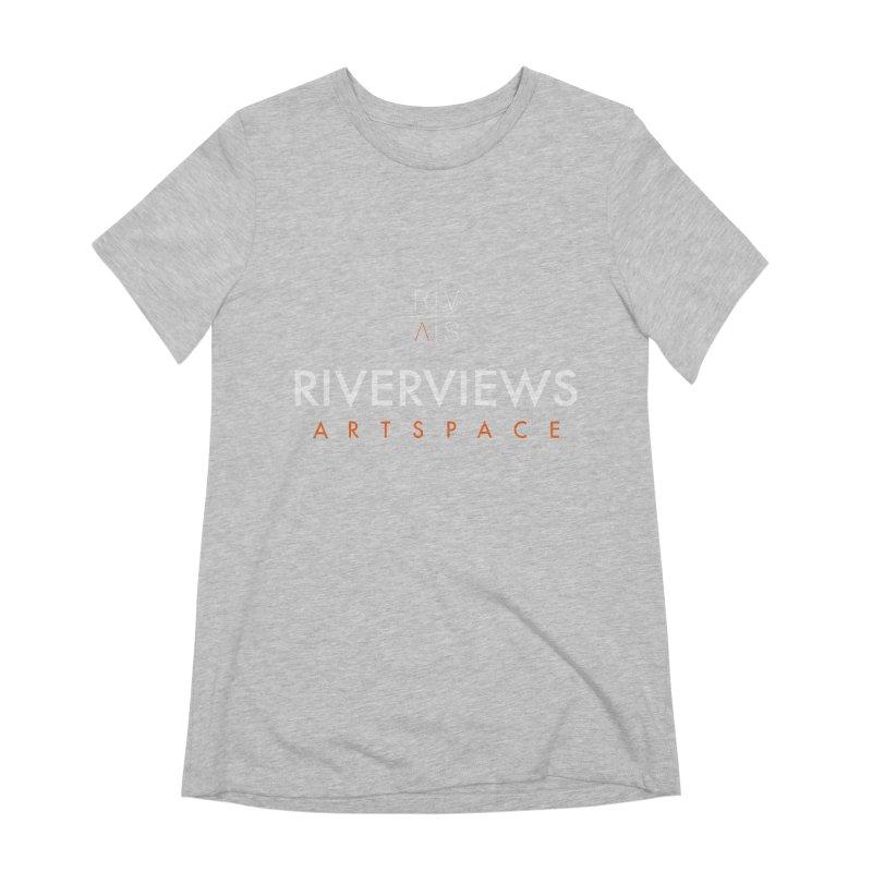 RVAS Logo - White Women's Extra Soft T-Shirt by Riverviews Artspace Shop