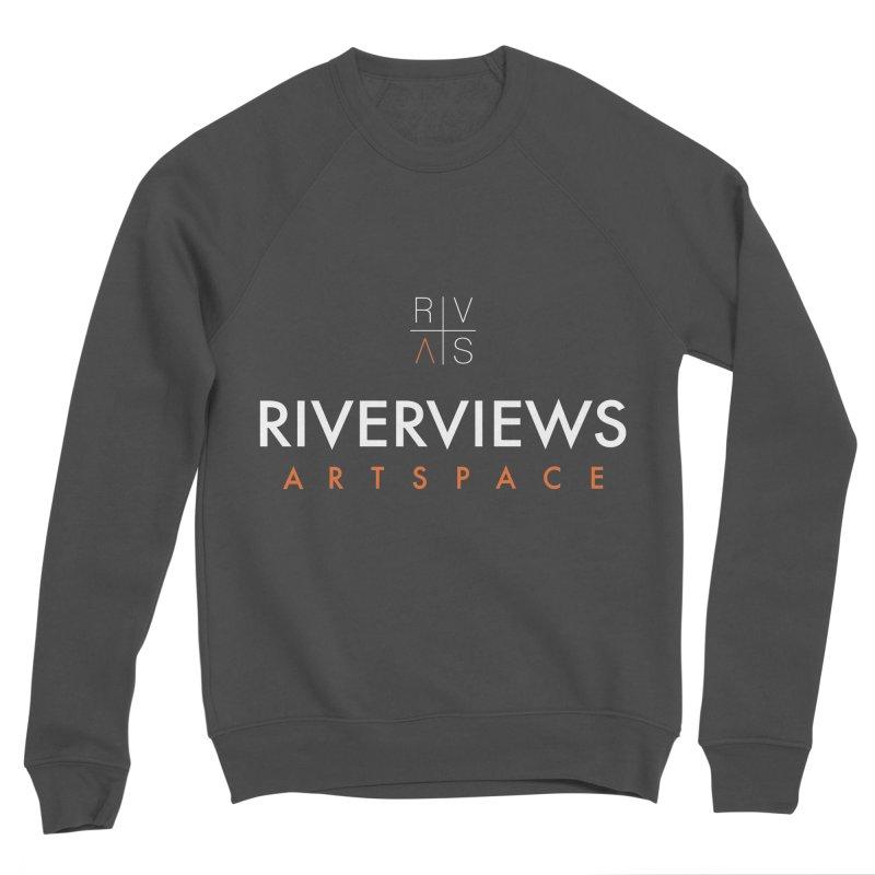 RVAS Logo - White Men's Sponge Fleece Sweatshirt by Riverviews Artspace Shop
