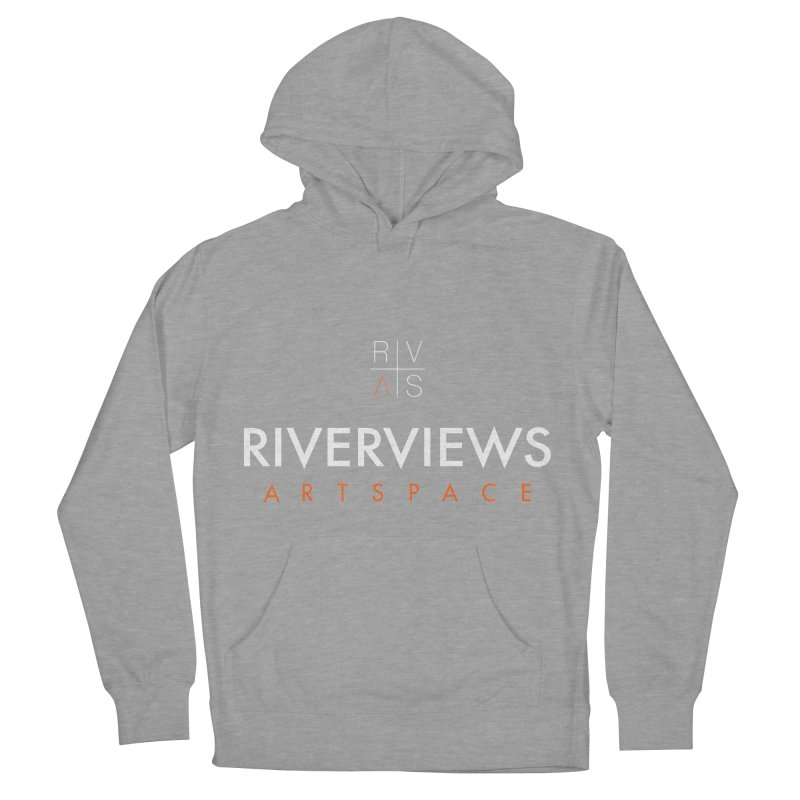 RVAS Logo - White Men's French Terry Pullover Hoody by Riverviews Artspace Shop