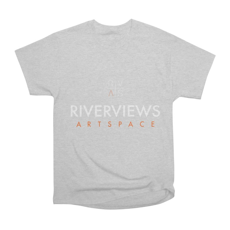 RVAS Logo - White Men's Heavyweight T-Shirt by Riverviews Artspace Shop