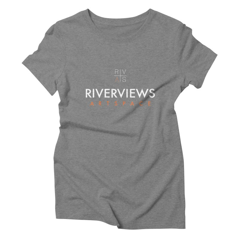 RVAS Logo - White Women's Triblend T-Shirt by Riverviews Artspace Shop