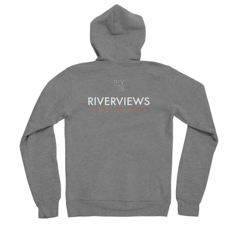 RVAS Logo - White Men's Sponge Fleece Zip-Up Hoody by Riverviews Artspace Shop