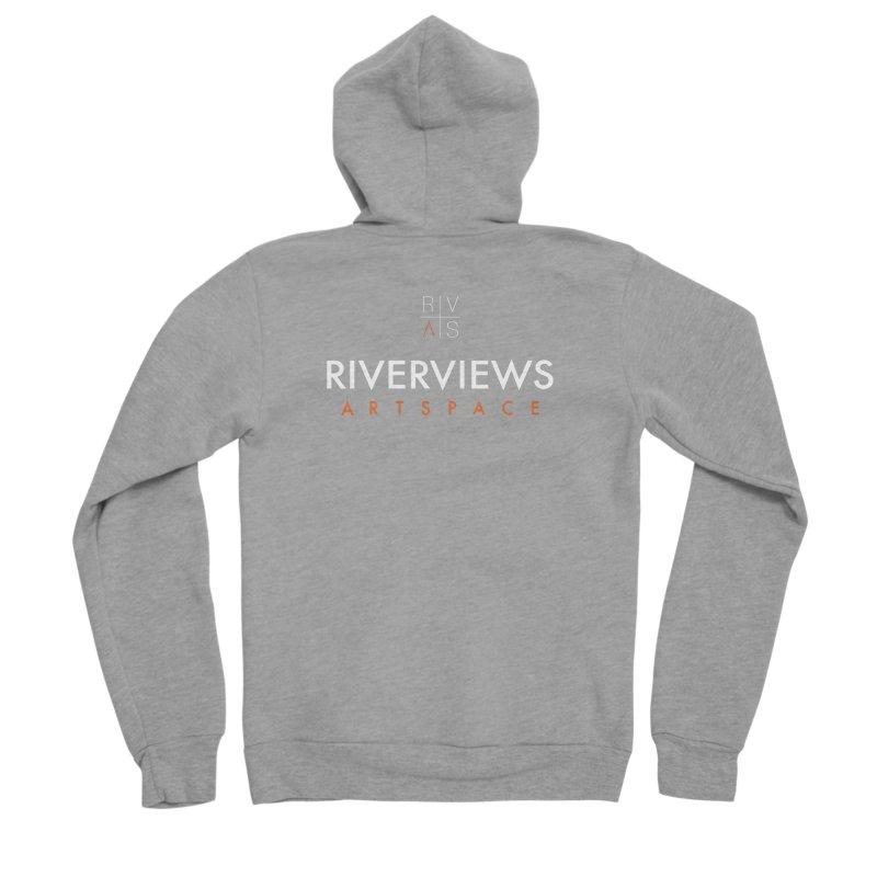 RVAS Logo - White Women's Sponge Fleece Zip-Up Hoody by Riverviews Artspace Shop