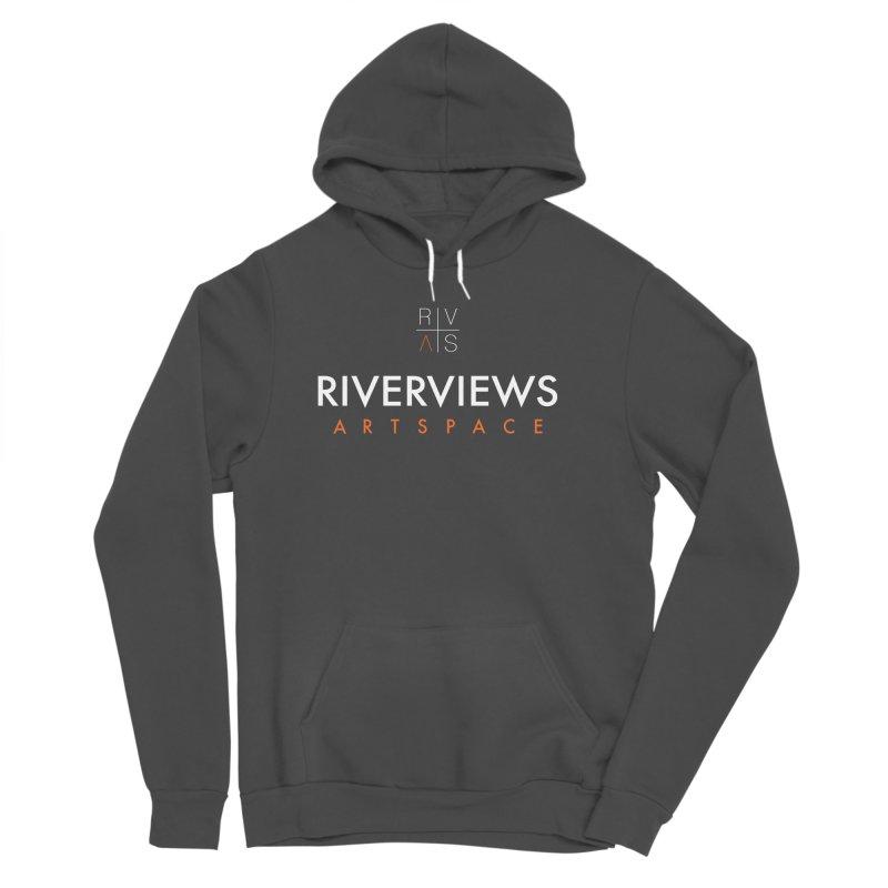RVAS Logo - White Women's Sponge Fleece Pullover Hoody by Riverviews Artspace Shop