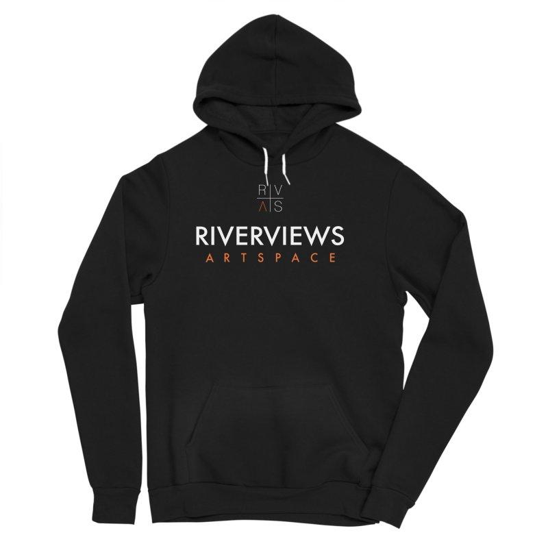 RVAS Logo - White Men's Sponge Fleece Pullover Hoody by Riverviews Artspace Shop