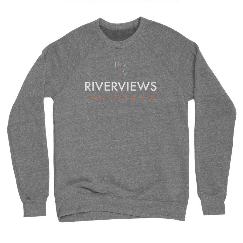 RVAS Logo - White Men's Sponge Fleece Sweatshirt by Riverviews Artspace Shop