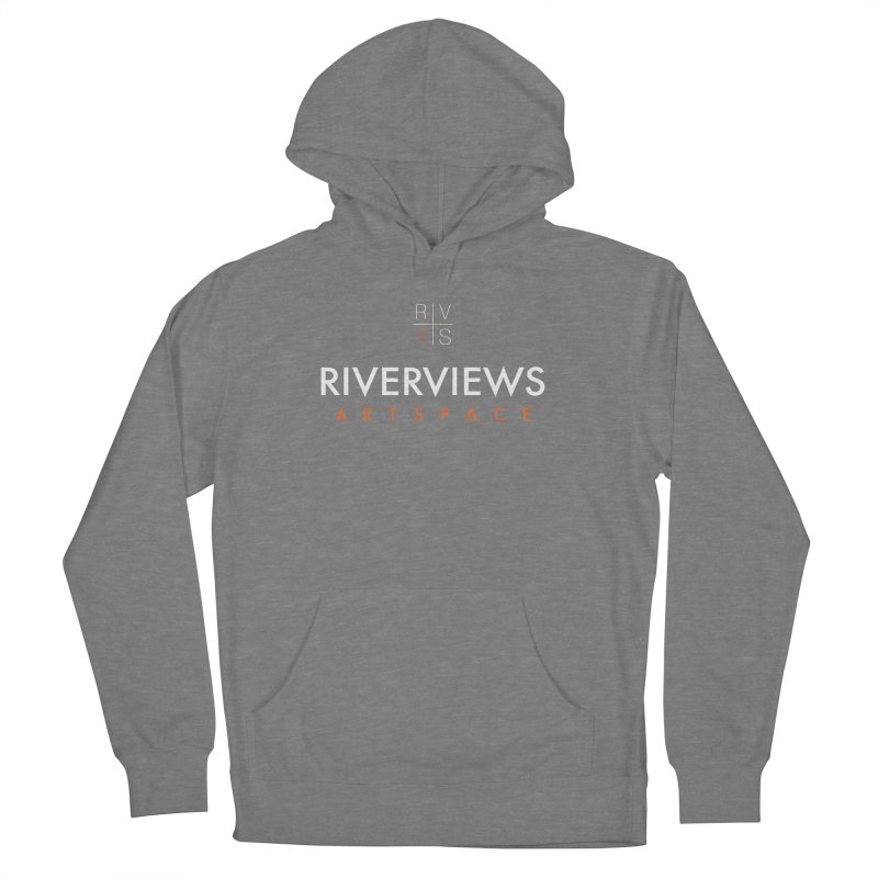 RVAS Logo - White Women's French Terry Pullover Hoody by Riverviews Artspace Shop