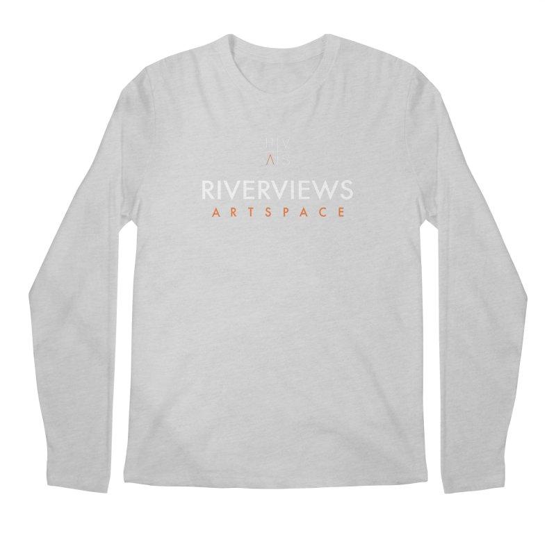 RVAS Logo - White Men's Regular Longsleeve T-Shirt by Riverviews Artspace Shop