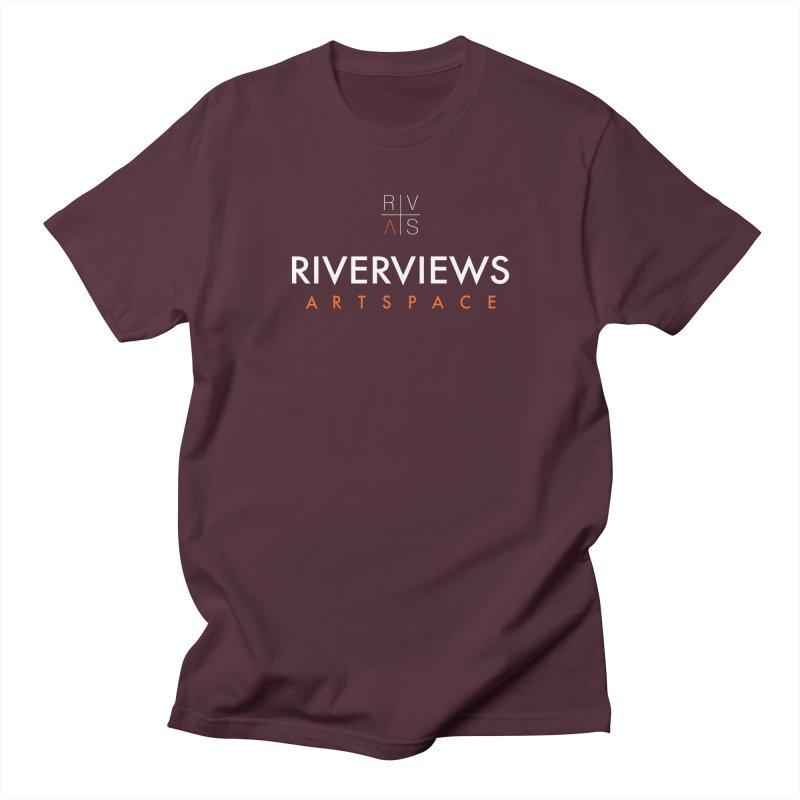 RVAS Logo - White Men's Regular T-Shirt by Riverviews Artspace Shop