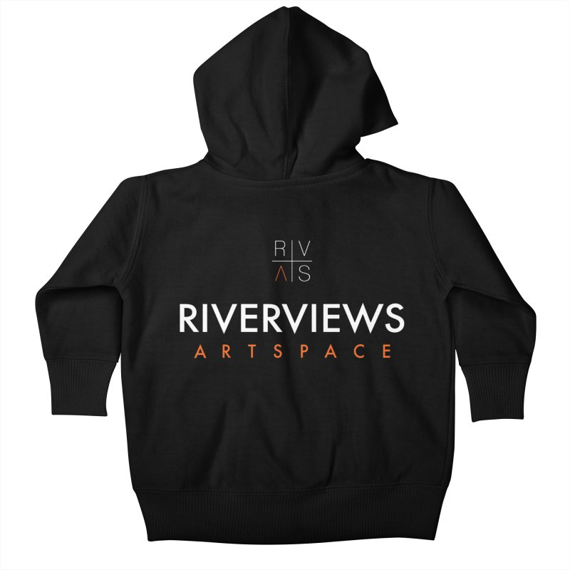 RVAS Logo - White Kids Baby Zip-Up Hoody by Riverviews Artspace Shop