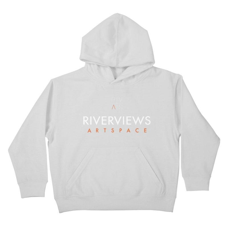 RVAS Logo - White Kids Pullover Hoody by Riverviews Artspace Shop