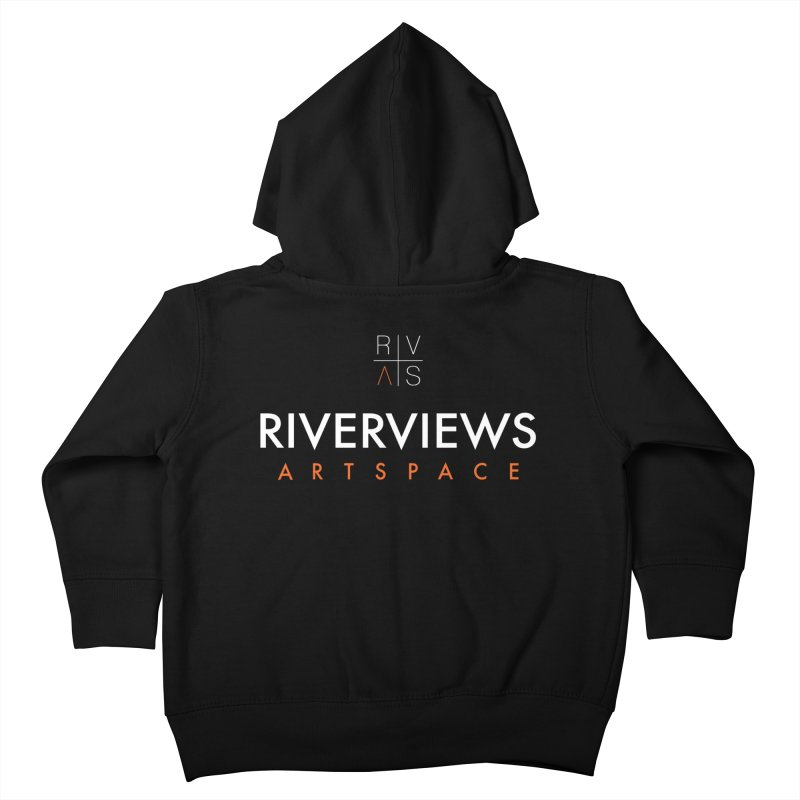 RVAS Logo - White Kids Toddler Zip-Up Hoody by Riverviews Artspace Shop