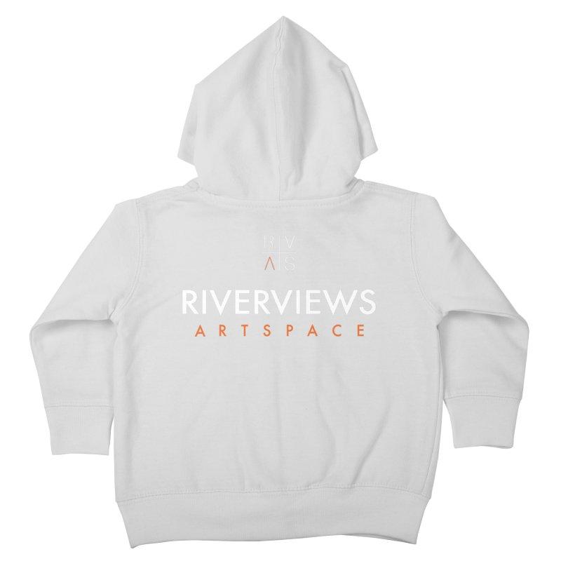 RVAS Logo - White Kids Toddler Zip-Up Hoody by Riverviews Artspace Shop