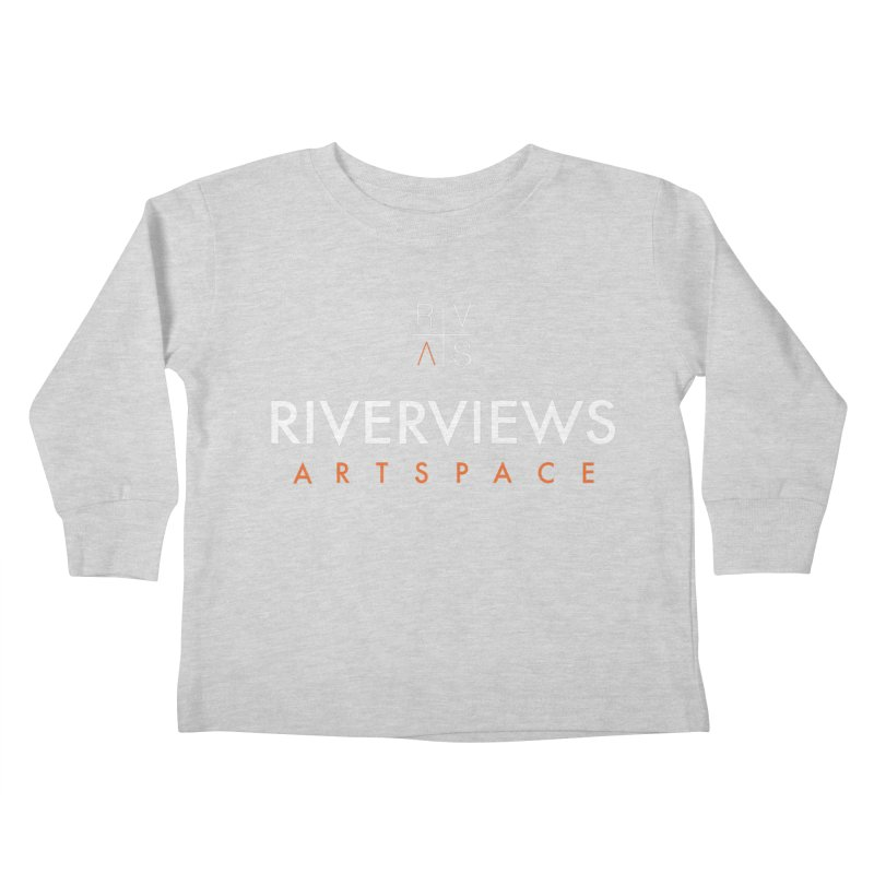 RVAS Logo - White Kids Toddler Longsleeve T-Shirt by Riverviews Artspace Shop