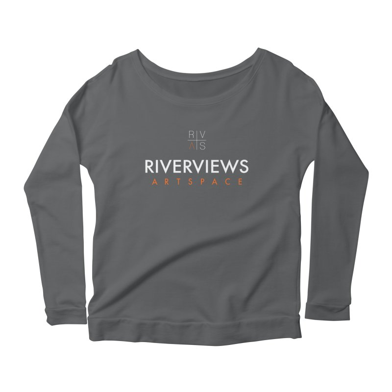 RVAS Logo - White Women's Scoop Neck Longsleeve T-Shirt by Riverviews Artspace Shop