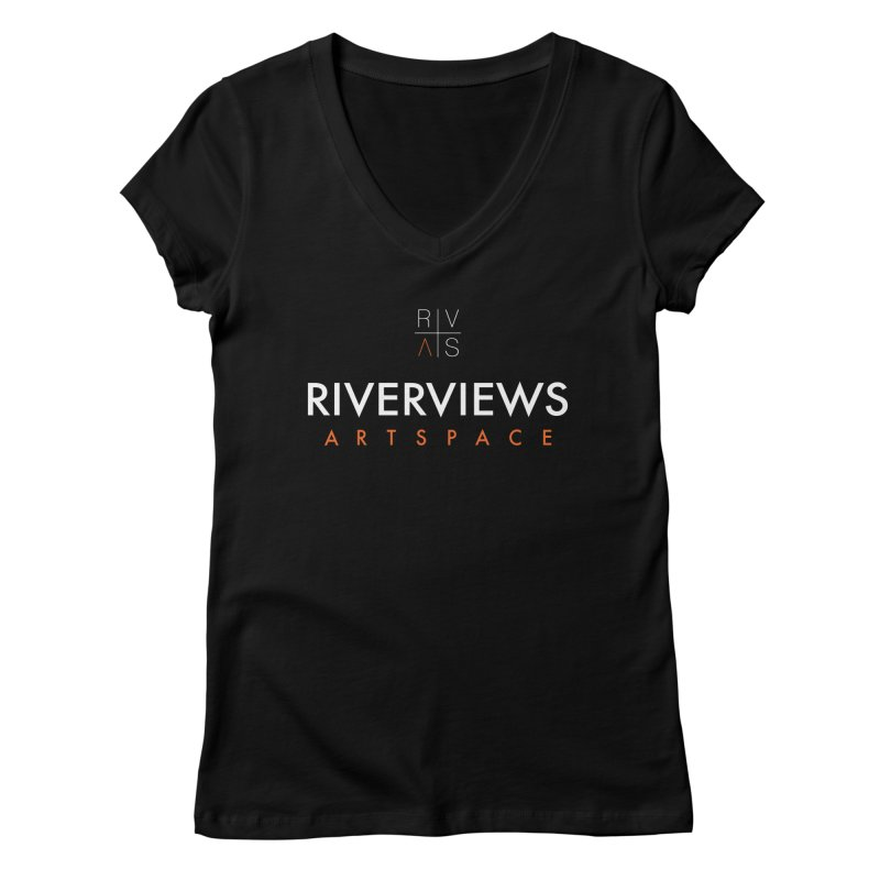 RVAS Logo - White Women's Regular V-Neck by Riverviews Artspace Shop
