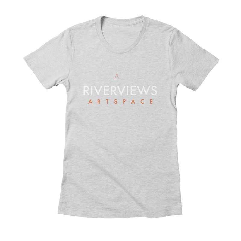 RVAS Logo - White Women's Fitted T-Shirt by Riverviews Artspace Shop