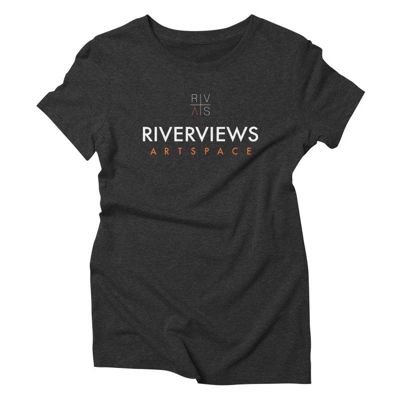 RVAS Logo - White Women's Triblend T-Shirt by Riverviews Artspace Shop