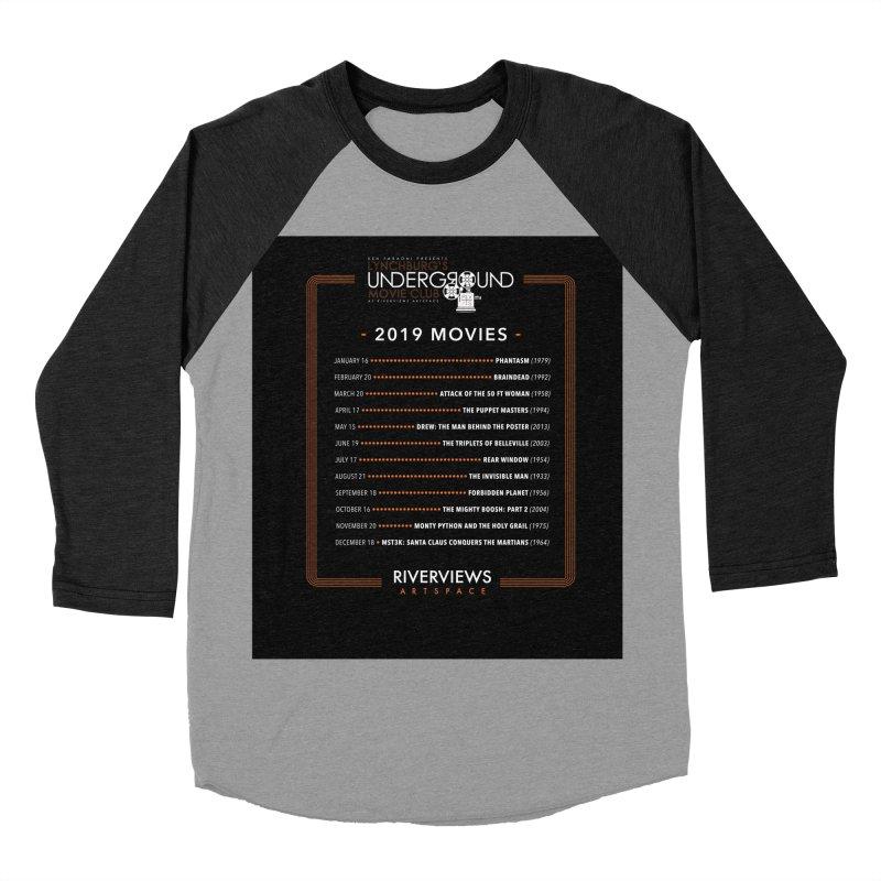 LUMC 2019 Movies Women's Baseball Triblend Longsleeve T-Shirt by Riverviews Artspace Shop