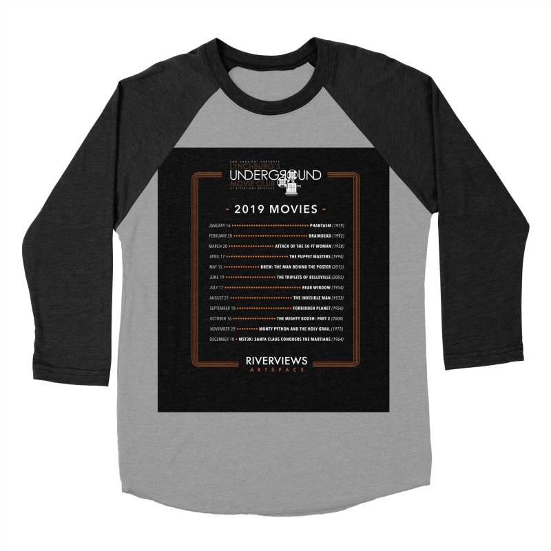 LUMC 2019 Movies Men's Baseball Triblend Longsleeve T-Shirt by Riverviews Artspace Shop