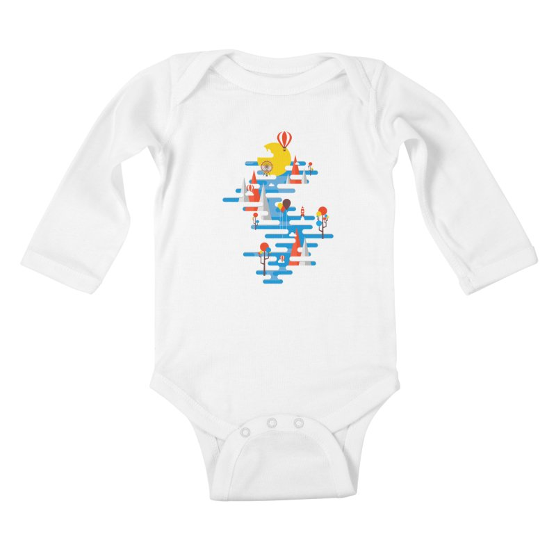 A Beautiful Day Kids Baby Longsleeve Bodysuit by Arrivesatten Artist Shop
