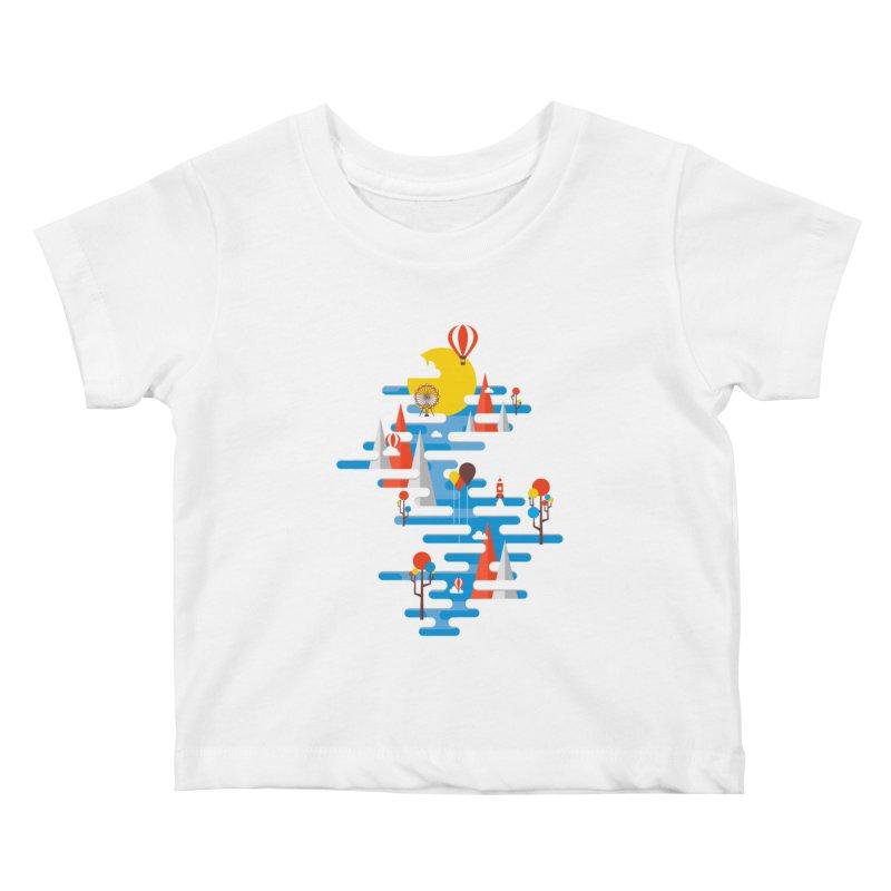 A Beautiful Day Kids Baby T-Shirt by Arrivesatten Artist Shop