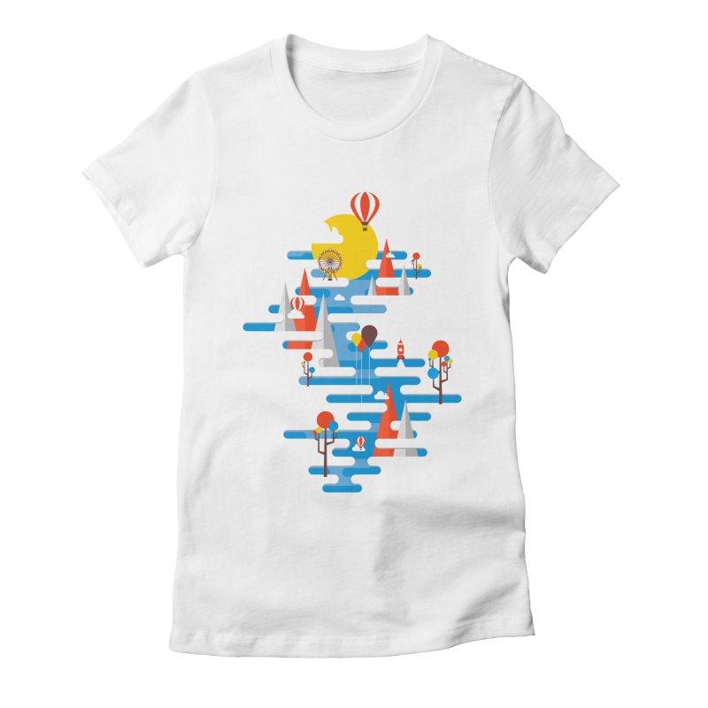 A Beautiful Day Women's Fitted T-Shirt by Arrivesatten Artist Shop