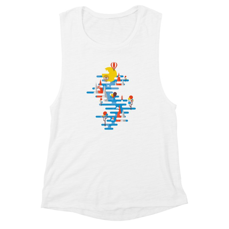 A Beautiful Day Women's Muscle Tank by Arrivesatten Artist Shop