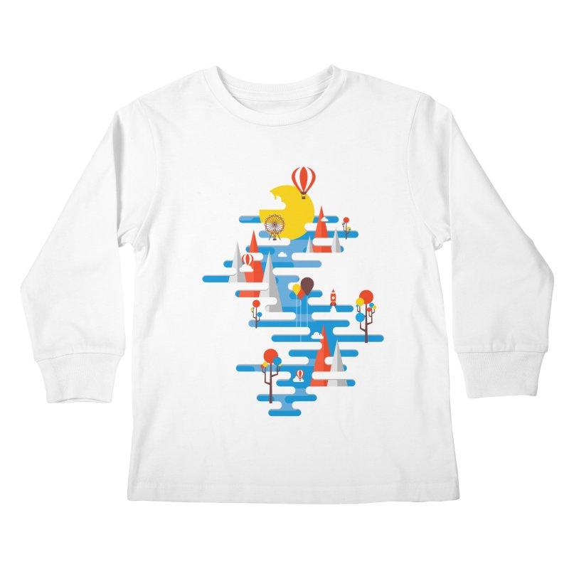 A Beautiful Day Kids Longsleeve T-Shirt by Arrivesatten Artist Shop