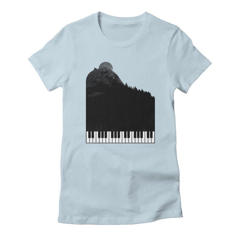Sound Of Nature Women's Fitted T-Shirt by Arrivesatten Artist Shop
