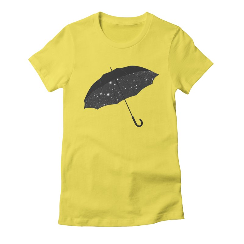 Full Of Stars Women's Fitted T-Shirt by Arrivesatten Artist Shop