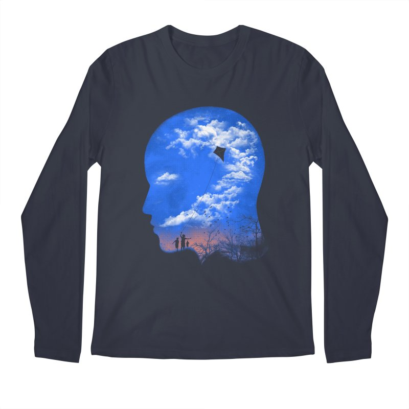 Flying Kite Men's Longsleeve T-Shirt by Arrivesatten Artist Shop